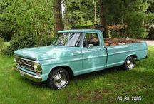 pickup trucks & old car