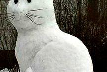 sněhové sochy