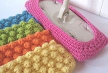 Crochet floor cleaner.