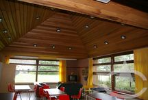 Cedar Indoors / Western Red Cedar used indoors creates a warmth look and feel, but also increases the actual warmth with excellent thermal and acoustic properties.