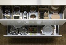 Straight Line drawer organization by Kessebohmer Clever Storage / junk drawer organization  kitchen drawer organization