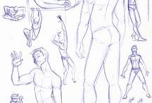 Dibujos de poses hombre