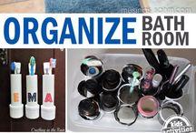 home bathroom organized