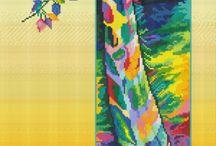 Colorful kruissteek