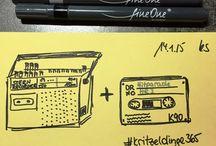 365Kritzeldinge 2015 / Jeden Tag eine kleine Kritzelei ... vorgegeben aus dem Kalender 365 Things to Draw http://www.amazon.com/Things-Draw-2015-Daily-Calendar/dp/1452131430