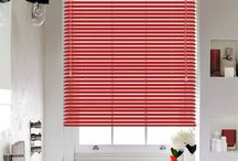 Blinds: The Magic of Red / Add the magic of red blinds in your home & spice up your decor with something different.