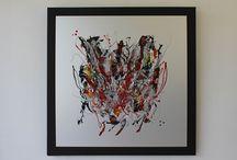 Abstraction / - Peinture Mixte sur métal -