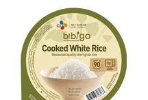 Bibigo rice and snacks  / Bibigo's range of #Korean microwave #rice and #healthy #seaweed #snacks