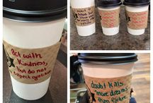 acts of kindness / One way that our team contributes acts of kindness to our community is by writing sweet little nothings on the sleeves of our customers coffees. The quotes are personal favourites, inspirational, or are funny (we love to see you chuckle!). Here are some snippets of our favourite quotes and pictures that our customers have shared