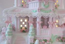 Gingerbread  huisjes.