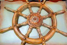 Τιμόνια / Ξυλόγλυπτα τιμόνια φιλοτεχνημένα από τον Γιώργο Παττέ | www.pattes.gr
