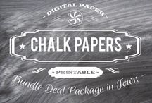 CHALKBOARD PAPERS / DIGITAL PAPERS - CHALKBOARD PAPERS BY DIGITAL PAPER SHOP