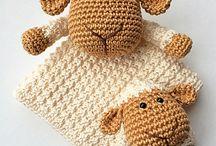 Cobertores De Bebé com bonecos