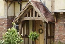 oak framed house: build