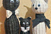 Pletená zvířata z papiru