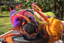 Esculturas fieltro matakury / Diseño, creatividad, color , suavidad
