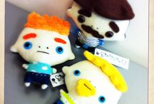 P L U S H / Monsters, animals, dinosaurs, creatures, dolls, babies, people.