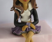 CLAWDEEN WOLF (Monster High) fondant figure / CLAWDEEN WOLF (Monster High) fondant figure for cakes / by Figurice Za Torte
