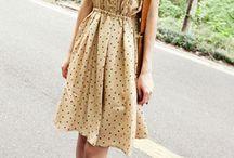 Módní inspirace - šaty / Převážně retro, vintage, elegantní a romantický styl; krajky, volánky, zajímavé detaily...