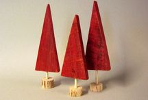 Christmas trees from pallets/wood