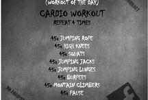 Workout / Un ensemble de petits workout, cardio, renforcement général ou juste pour garder la forme,  sans matériels (ou très peu),  à réaliser partout.