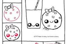 Рисунки(еда) kawaii✨