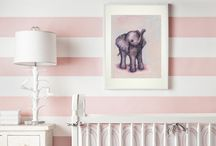 Little Miss Linda / Best friends daughters room Pink and stripes baby rooms