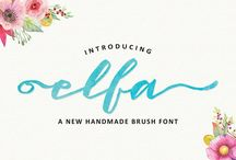 Graphic Design Elements and Favorite Fonts