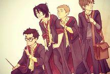 The time of Marauders / Czasy Huncwotów (arty zarówno z Huncwotami jak i z czarodziejami chodzący mi z nimi do Hogwartu w tych czasach). Ps. Mogą pojawić się postacie strasze od Huncwotów :3