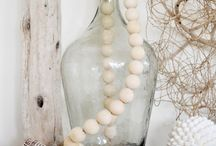 Wood-beads / Wood, garlands, arts, craft, decoration, DIY