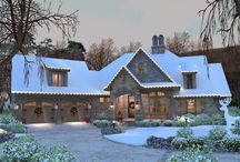 Homes Dressed in Holiday Cheer! / We've gathered some of our Best-Selling House Plans from 2016 and dressed them in Holiday Cheer! You can view all our best-selling homes, by visiting https://www.dfdhouseplans.com/plans/top_plans/