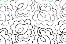 Стежки одеял Растительные орнаменты (Quilt: plants, vegetable)