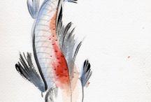 koi fish painting simplified