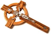Celtic Saint Benedict Crucifix with Miraculous Medal