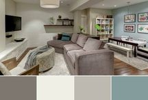 Accent wall ideas / by Michelle @ latenightquilter.com