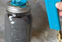 spray paint jar