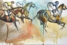 Horses Race Paintings / It's about race, canter, thoroughbred, galloping…