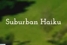 Suburban Haiku: shameless self promotion / Actually, I am kind of ashamed.