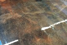 Metallic Epoxy Floors / Here you will see some of the beautiful finishes you can achieve with our 100% solids, metallic epoxy.