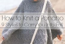 Knitting / Ponchos and scarves and things