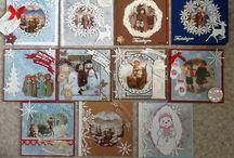Kerst 13 / Zelf gemaakte kerstkaarten