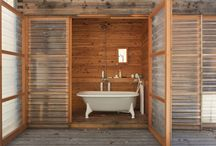 Out door baths & showers