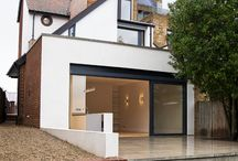 Hartington Rd / Residential project by the Thames. The house was designed and built in the mid 80's. Bold roof lines, challenging fenestration and interesting spaces. redjacket completed a ground floor up redesign adding more living space at the rear, a new entrance and additional bedrooms.
