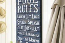 Pool Rules / Signs