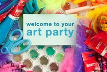 Party Ideas - Art Party / Create a fun filled art party with paints and activities.  #artparty #coloring #party