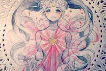 Sailor Moon & One Piece art