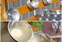 Venkovní kuchyňka/ponk / Venkovní  kuchyňky, diy, recyklace, hraní, zábava, venku