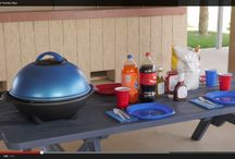 Outdoor with BrightGrill / As long as you have power, you are ready to get grilling.