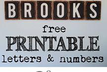 Letters & Numbers Printable Free