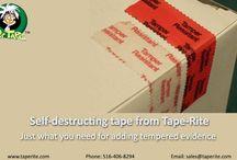 Self-destructing tape